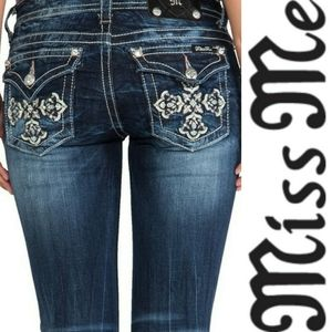 Miss Me Boot Bootcut JP5918B Cross Bling Jeans 25
